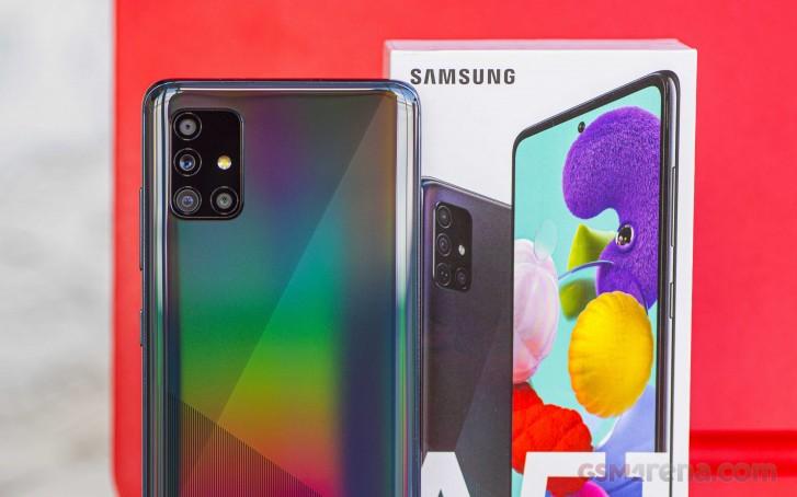 Samsung Galaxy A51 5G Zoll näher an einem offiziellen Start