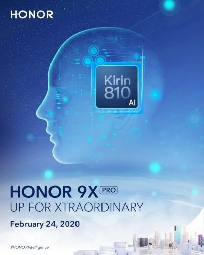 Der weltweite Start von Honor 9X Pro ist für den 24. Februar geplant