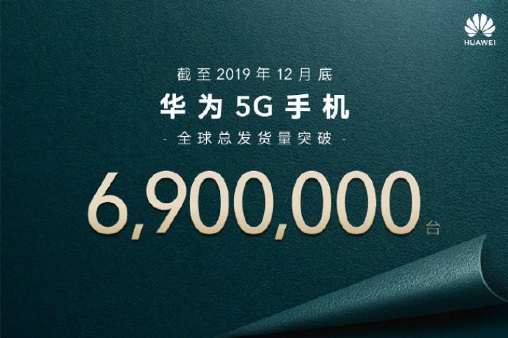 Huawei verkauft im Jahr 2019 6,9 Millionen 5G-Geräte