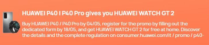 Huawei P40 und P40 Pro sind jetzt in Europa erhältlich und werden mit der kostenlosen Watch GT 2 oder 2e geliefert