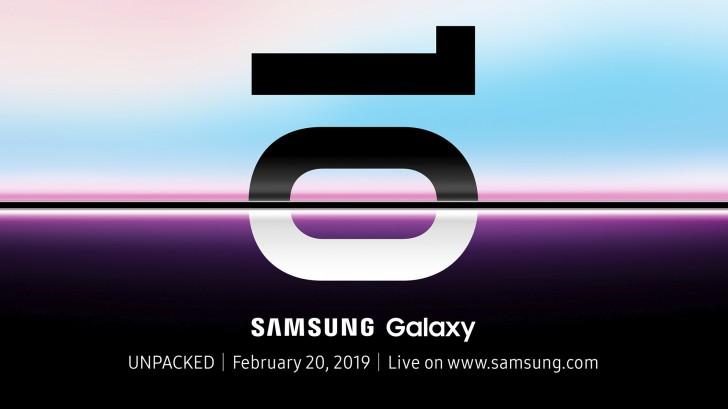 Samsung Galaxy S10 kommt offiziell am 20. Februar an