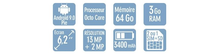 Das Huawei P Smart wird von einem Kirin 710-Chipsatz angetrieben und hat eine kleinere Tränenkerbe