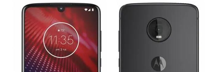 Motorola Moto Z4 Bildlecks mit Wassertropfen und einer einzelnen Rückfahrkamera