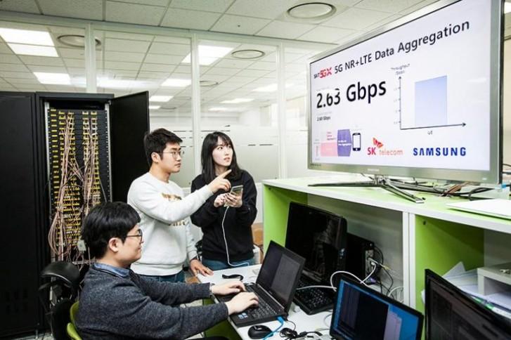 Das Samsung Galaxy S10 5G erreicht in SK Telecom-Tests eine Geschwindigkeit von 2,6 GBit / s