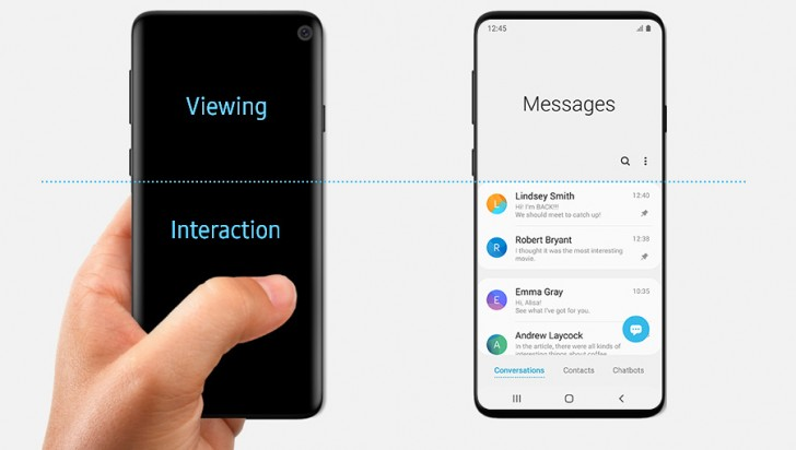 Der Samsung-Artikel zu One UI zeigt versehentlich das Galaxy S10-Design