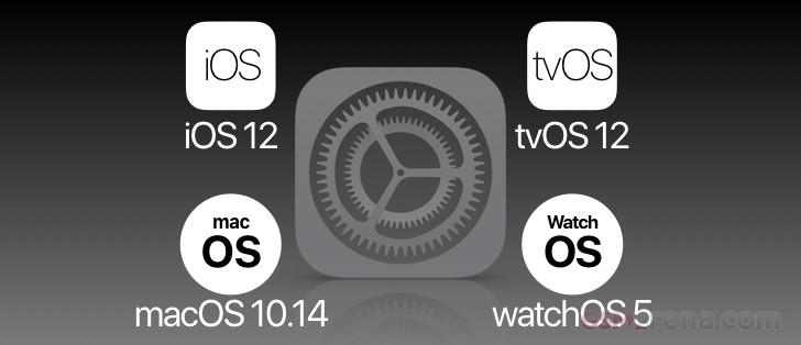 Apple veröffentlicht Beta 2 für iOS 12, tvOS 12, macOS 10.14 und watchOS 5 für Entwickler